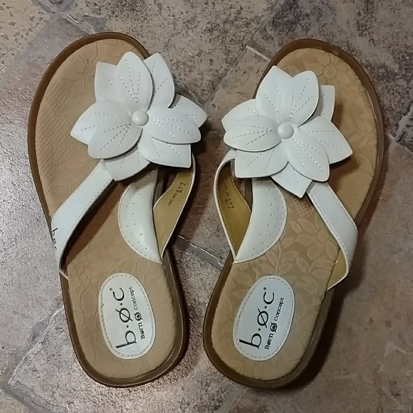Boc shoes boc born concept white flower sandals poshmark boc born concept white flower sandals mightylinksfo
